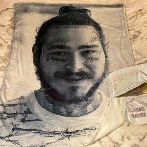 Post Malone fleece blanket 50x40